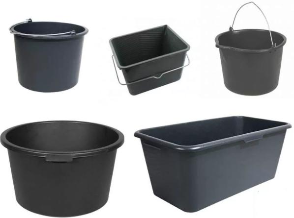 Строительные ведра и емкости для штукатурно-отделочных работ. Купить инструменты по выгодной цене в интернет-магазине doss-st