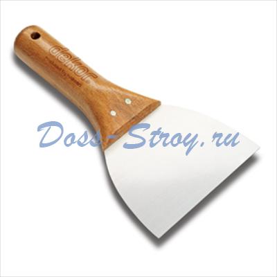 Шпатель для шпатлевки DEKOR 120 мм деревянная ручка