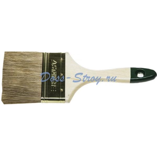 Кисть плоская STAYER LASUR-STANDARD смешанная (натуральная и искусственная) щетина деревянная ручка