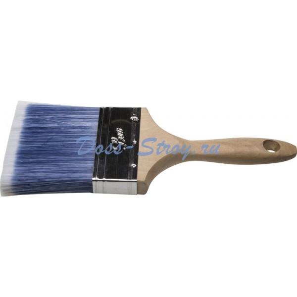 Кисть плоская STAYER AQUA-LUX искусственная щетина неокрашенная профессиональная деревянная ручка