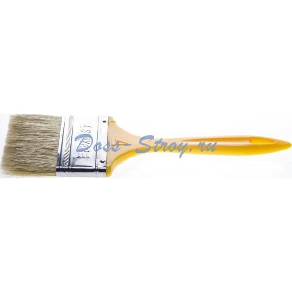 Кисть плоская STAYER UNIVERSAL-MASTER светлая натуральная щетина пластмассовая ручка