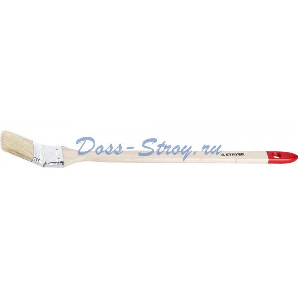 Кисть STAYER MASTER Универсал радиаторная для всех видов ЛКМ натуральная щетина деревянная ручка