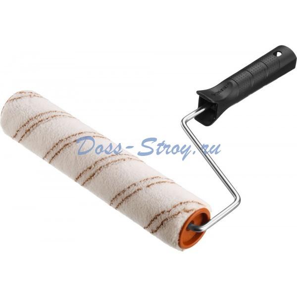 Валик малярный ЗУБР ОПТИМА-МИКРОТЕКС пропитки и средства защиты древесины микрофибра ворс 7 мм бюгель 6 мм
