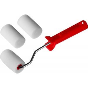 Валик MIRAX ПОРОЛОН в наборе: 3 шубки + ручка 65 мм d=40 мм