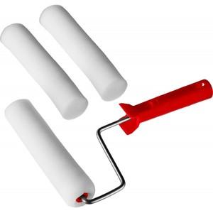 Валик MIRAX ПОРОЛОН в наборе: 3 шубки + ручка 180 мм d=40 мм