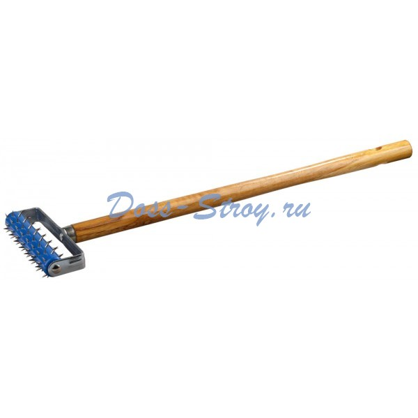 Валик игольчатый STAYER для гипсокартона в сборе металлические иглы ручка 500 мм 32х150 мм