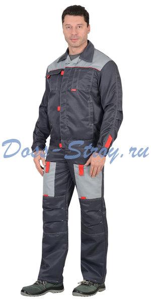 Костюм ФАВОРИТ куртка и полукомбенизон т.серый/св.серым