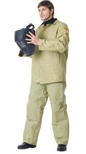 Костюм сварщика куртка брюки брезентовый с налокотниками и наколенниками