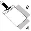 Шпатлевочная лопатка DEKOR 180х180 мм деревянная ручка