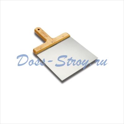 Шпатлевочная лопатка DEKOR 200х200 мм деревянная ручка