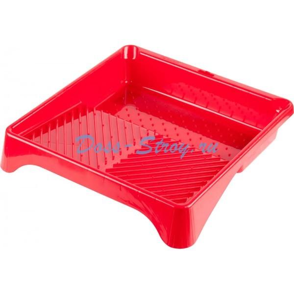 Ванночка ЗУБР малярная пластмассовая для валиков до 270 мм 360х360 мм 13 л