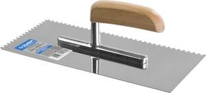 Гладилка штукатурная зубчатая нержавеющая ЗУБР Эксперт Профессионал 130х280 мм 4х4 мм