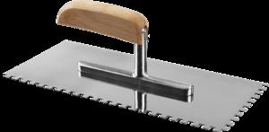 Гладилка штукатурная зубчатая ЗУБР Эксперт Профессионал 130х280 мм 6х6 мм