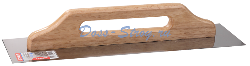 Гладилка Швейцарская нержавеющая с деревянной ручкой ЗУБР Эксперт 480х130 мм