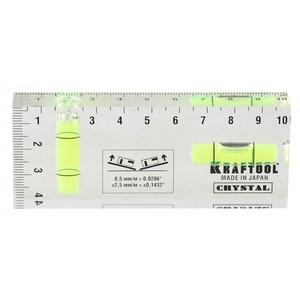 Уровень KRAFTOOL PRO CRYSTAL 2 ампулы 40 х 100 мм