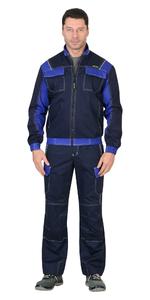 Куртка летняя Карат темно-синий  80% х/б, МВО пл. 255 г/кв.м