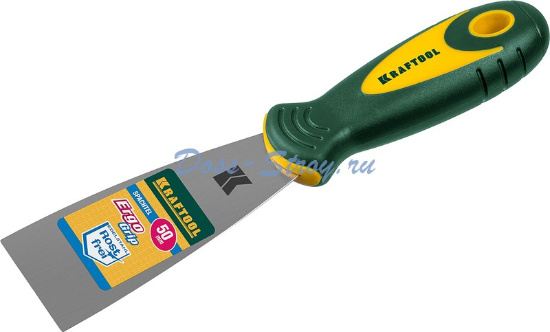 Шпательная лопатка KRAFTOOL с 2 компонентной ручкой 50 мм