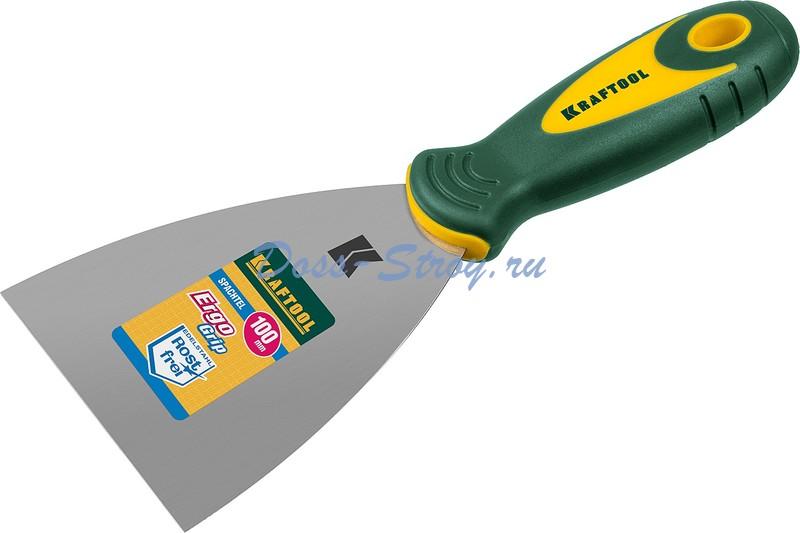 Шпательная лопатка KRAFTOOL с 2 компонентной ручкой 100 мм