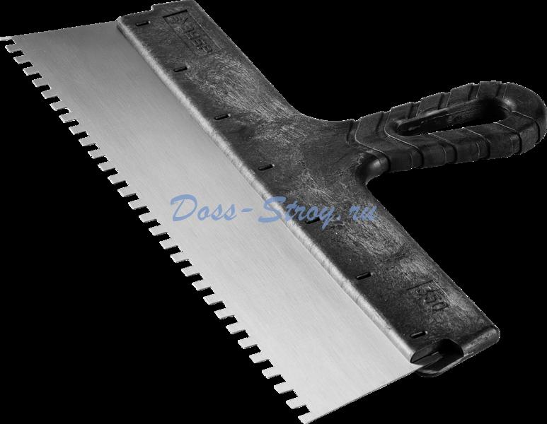 Шпатель ЗУБР СТАНДАРТ фасадный стальное полотно 350 мм 6х6