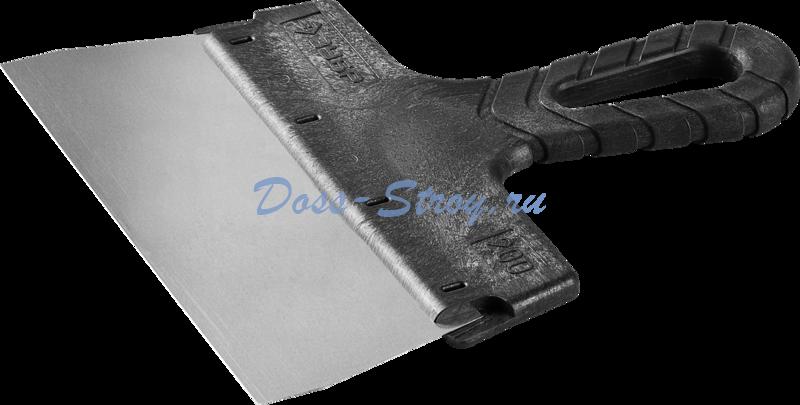 Шпатель ЗУБР МАСТЕР ФАСАДНЫЙ нержавеющее полотно 200 мм