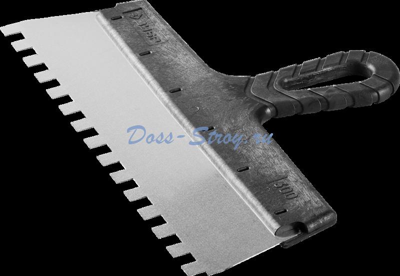 Шпатель ЗУБР МАСТЕР ФАСАДНЫЙ нержавеющее полотно 300 мм 10/10 мм