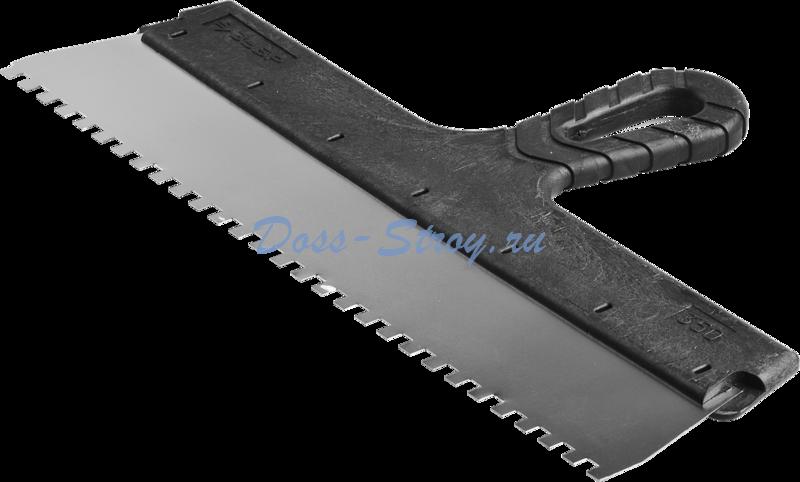 Шпатель ЗУБР МАСТЕР ФАСАДНЫЙ нержавеющее полотно 350 мм 6/6 мм