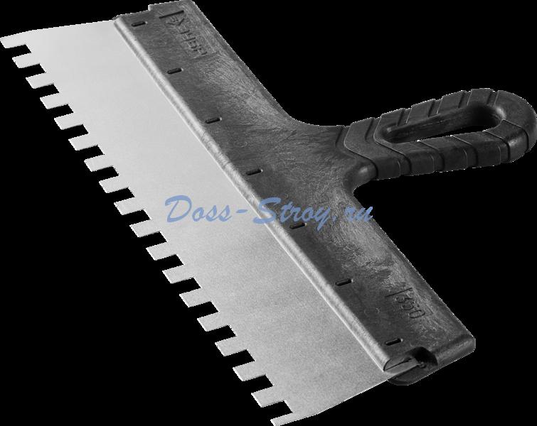 Шпатель ЗУБР МАСТЕР ФАСАДНЫЙ нержавеющее полотно 350 мм 10/10 мм