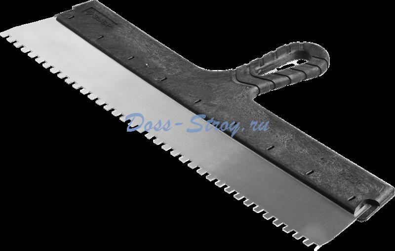 Шпатель ЗУБР МАСТЕР ФАСАДНЫЙ нержавеющее полотно 450 мм 6/6 мм