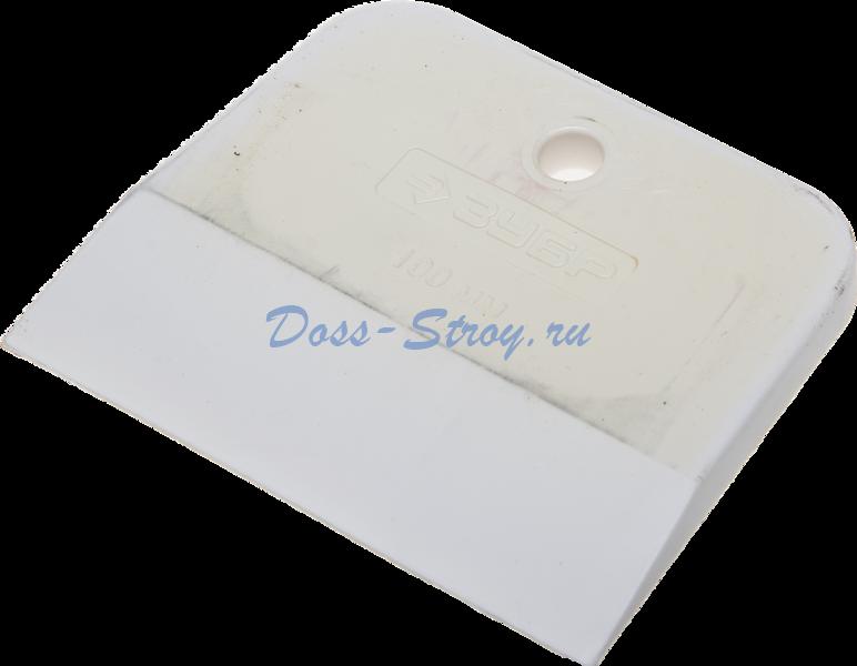 Шпатель ЗУБР МАСТЕР резиновый белый 100 мм