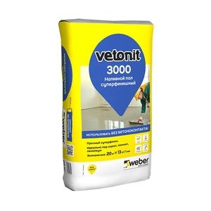 Наливной пол Weber Vetonit Суперфинишный 3000, 20 кг
