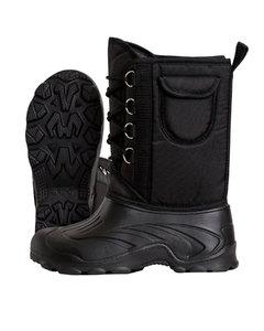 Дутики ЭВА мужские Д-014 ч на шнуровке с чулком -40С цв черный