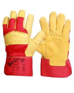 Перчатки утепленные комбинированные кожаные ДИГГЕР