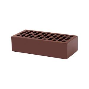 Кирпич керамический пустотелый лицевой одинарный, М-150, коричневый / шоколад