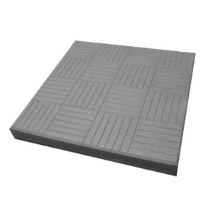 Плитка тротуарная Паркет 300х300 мм серая