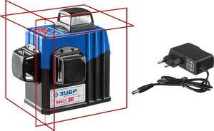 Нивелир лазерный ЗУБР КРЕСТ 3D 3х360° 20м/70м точн. +/-03 мм / м