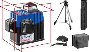 Нивелир лазерный ЗУБР КРЕСТ 3D №2 3х360° 20м/70м точн. +/-03 мм / м штатив