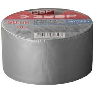 """Клейкая лента """"РЕФИЛ"""", ЗУБР Профессионал,универсал, рифленая, водоотталк., устойчивая к УФ. 50 мм х 10 м, серебристая"""