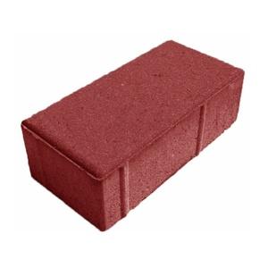 Плитка тротуарная Брусчатка 200х100х60 мм красная