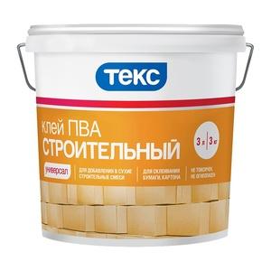 Клей ПВА строительный Текс Универсал (3 кг)