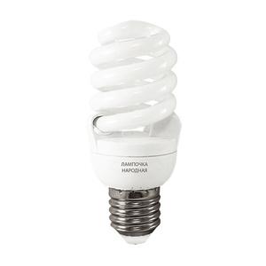 Лампа КЛЛ спираль Е27, 20Вт, 230В, 6500К, 50х107 мм, хол. белый свет