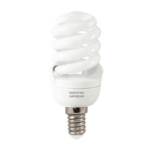 Лампа КЛЛ спираль Е14, 11Вт, 230В, 4000К, 40х93 мм, хол. белый свет