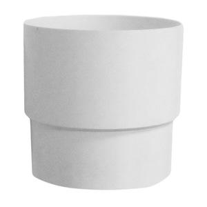 Муфта трубы Мурол, d=80, белая