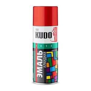 Эмаль аэрозольная Kudo KU-1002 универсальная чёрная глянцевая (0,52 л)