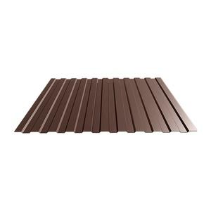 Профнастил С-8 (RAL 8017) корич. шоколад 1200х2000х0,4 мм (2,4 м2)