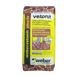 Клей для плитки цементный Weber Vetonit Ultra Fix, 25 кг