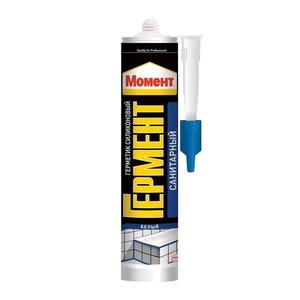 Герметик Момент Гермент силиконовый Санитарный (280 мл)