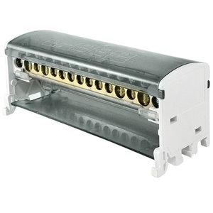 Блок модульный распределительный на DIN-рейку 125А, 2П (2x15)