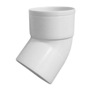 Отвод трубы 45 Мурол, d=80, белый