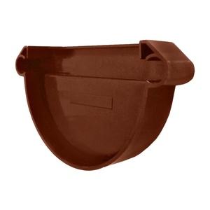 Заглушка желоба (воронки) универсальная Мурол, коричневая