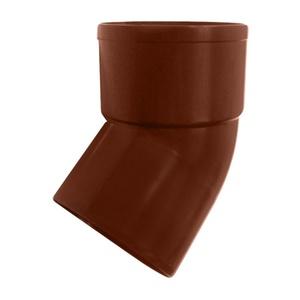 Отвод трубы 45 Мурол, d=80, коричневый